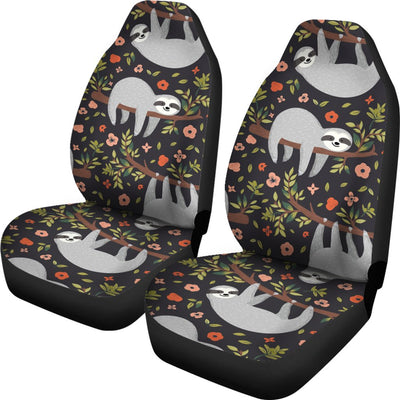 Sloth Cute Design Themed Print Universal Fit Car Seat Covers