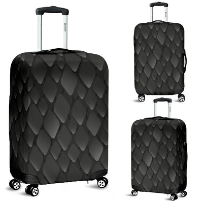 Snake Skin Black Print Luggage Cover Protector