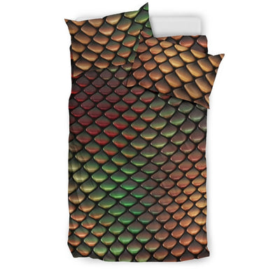 Snake Skin Colorful Print Duvet Cover Bedding Set