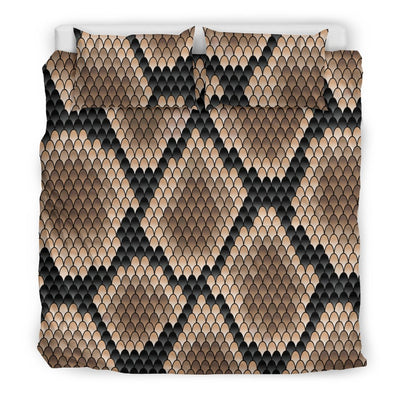 Snake Skin Design Print Duvet Cover Bedding Set