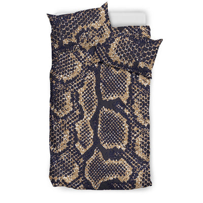Snake Skin Pattern Print Duvet Cover Bedding Set