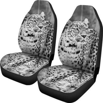 Snow Leopard Design No1 Print Universal Fit Car Seat Covers