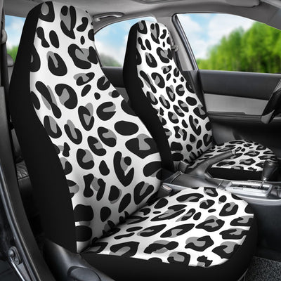 Snow Leopard Skin Print Universal Fit Car Seat Covers