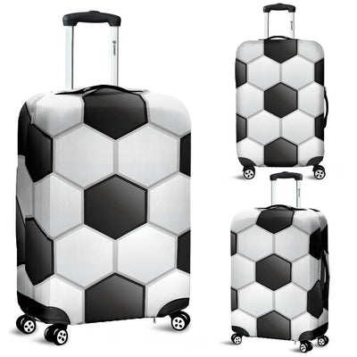 Soccer Ball Texture Print Pattern Luggage Cover Protector
