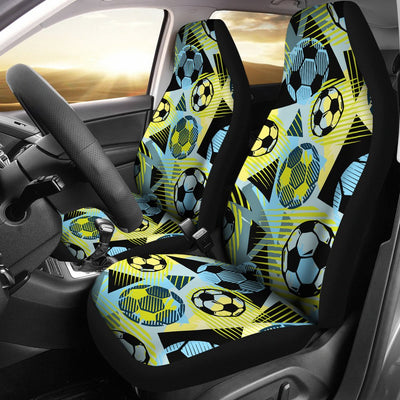 Soccer Ball Themed Print Design Universal Fit Car Seat Covers