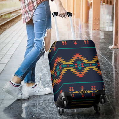 Southwest American Design Themed Print Luggage Cover Protector