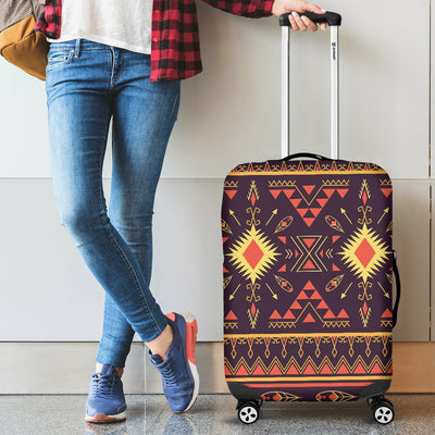 Southwest Ethnic Design Themed Print Luggage Cover Protector