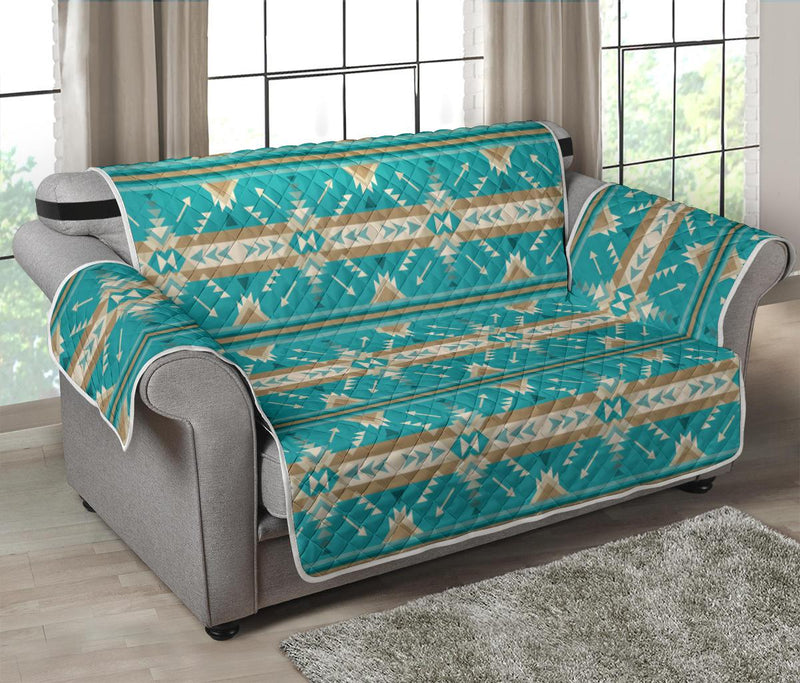Southwest Native Design Themed Print Loveseat Couch Cover Protector