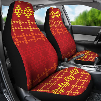 Southwest Red Gold Design Themed Print Universal Fit Car Seat Covers