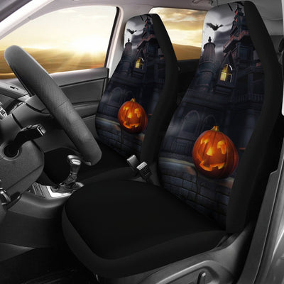 Spooky House Halloween Design No1 Print Universal Fit Car Seat Covers