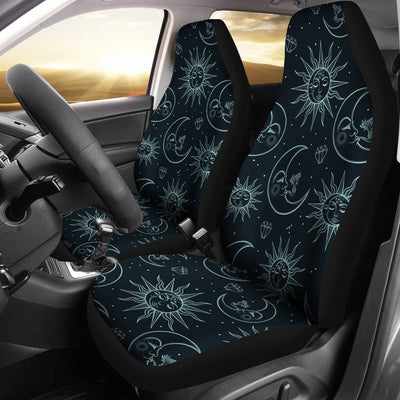 Sun Moon Magic Design Themed Print Universal Fit Car Seat Covers