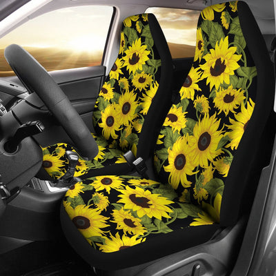 Sunflower Fresh Bright Color Print Universal Fit Car Seat Covers