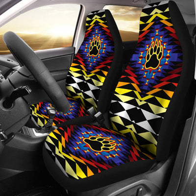 Sunset Bearpaw Design No1 Print Universal Fit Car Seat Covers