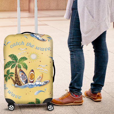 Surf Catch The Wave Design Luggage Cover Protector