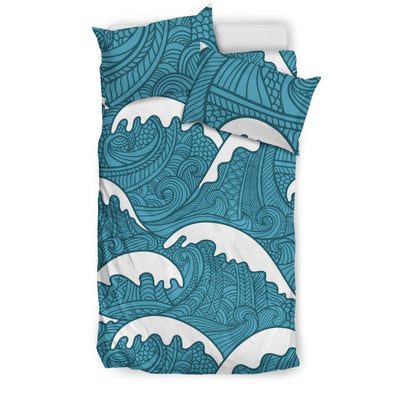 Surf Wave Tribal Design Duvet Cover Bedding Set