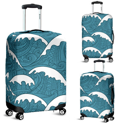 Surf Wave Tribal Design Luggage Cover Protector