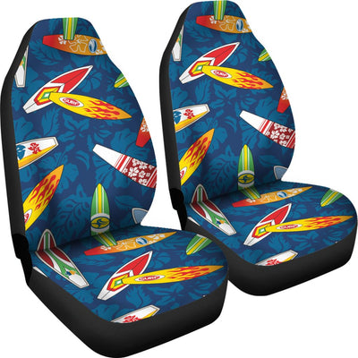 Surfboard Pattern Print Universal Fit Car Seat Covers