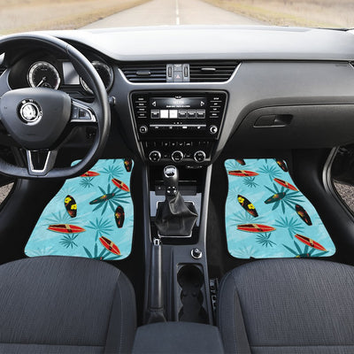 Surfboard Themed Pattern Car Floor Mats