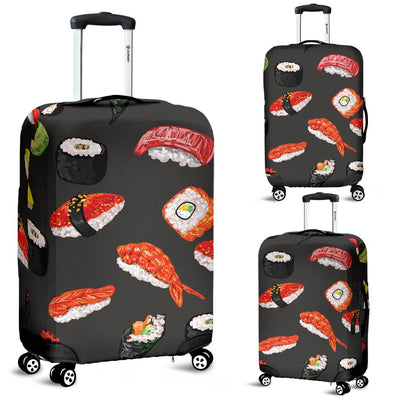 Sushi Design Print Luggage Cover Protector