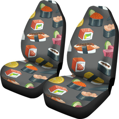 Sushi Pattern Print Universal Fit Car Seat Covers