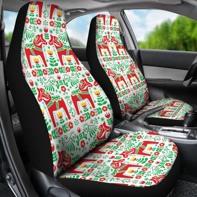 Swedish Dala Style Pattern Universal Fit Car Seat Covers