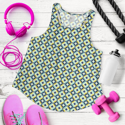 Swedish Design Pattern Women Racerback Tank Top