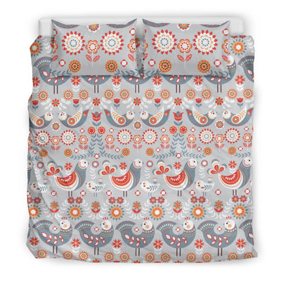 Swedish Nordic Design Print Duvet Cover Bedding Set
