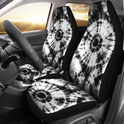 Tie Dye Black White Design Print Universal Fit Car Seat Covers