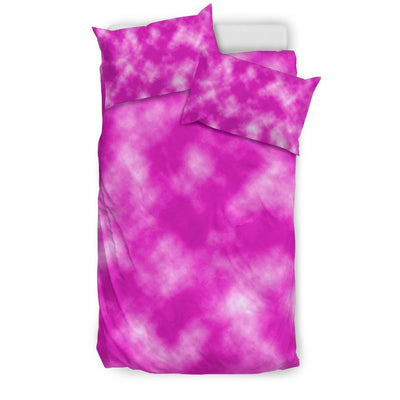 Tie Dye Pink Design Print Duvet Cover Bedding Set