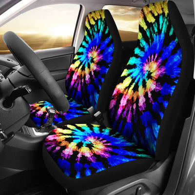 Tie Dye Rainbow Design Print Universal Fit Car Seat Covers