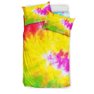 Tie Dye Rainbow Themed Print Duvet Cover Bedding Set