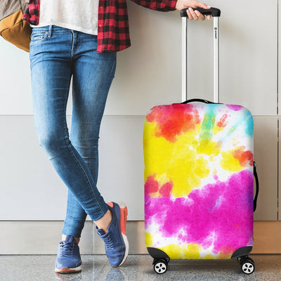 Tie Dye Rainbow Themed Print Luggage Cover Protector