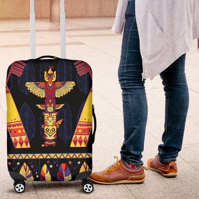 Totem Pole Design Luggage Cover Protector