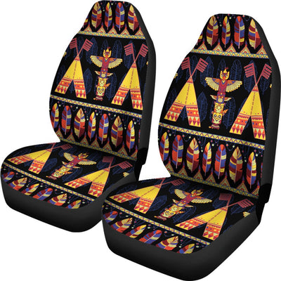 Totem Pole Design Universal Fit Car Seat Covers