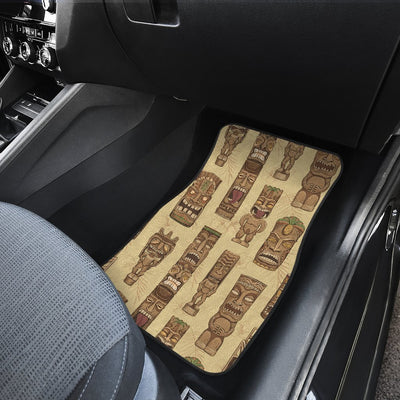 Totem Tiki Style Themed Design Car Floor Mats