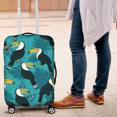 Toucan Parrot Pattern Print Luggage Cover Protector