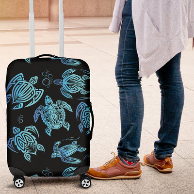 Tribal Turtle Polynesian Themed Design Luggage Cover Protector