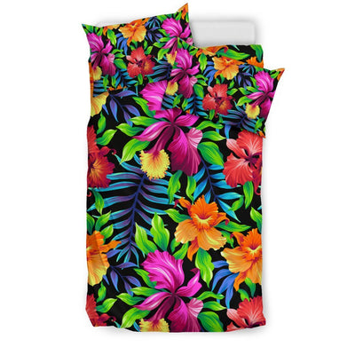 Tropical Flower Colorful Print Duvet Cover Bedding Set