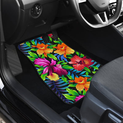 Tropical Folower Colorful Print Car Floor Mats