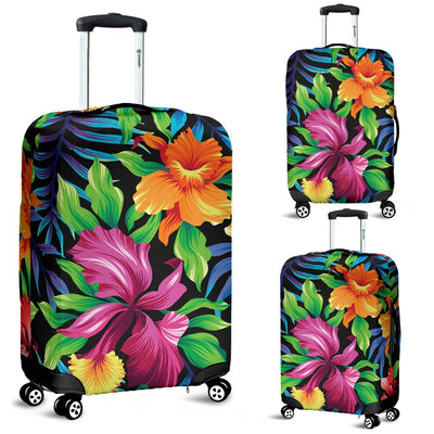 Tropical Folower Colorful Print Luggage Cover Protector
