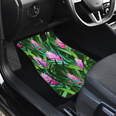 Tropical Folower Pink Heliconia Print Car Floor Mats
