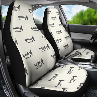 Trumpet Pattern Themed Print Universal Fit Car Seat Covers