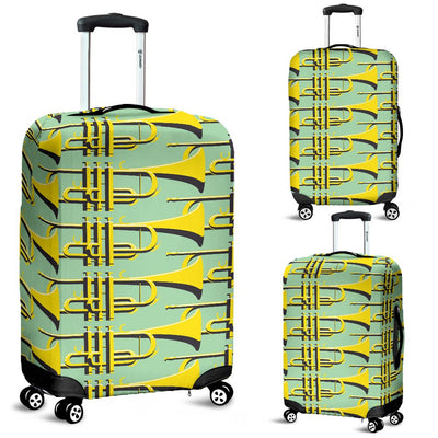 Trumpet Vintage Design Print Luggage Cover Protector