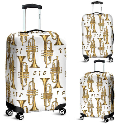 Trumpet With Music Note Print Luggage Cover Protector