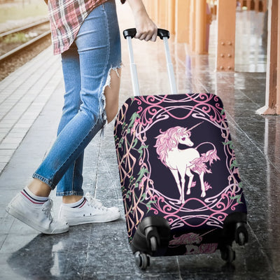 Unicorn Fantastic Flower Luggage Cover Protector