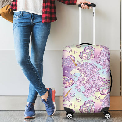 Unicorn Rainbow Star Heart Print Luggage Cover Protector