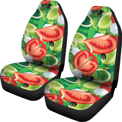 Vegan Salad Themed Design Print Universal Fit Car Seat Covers