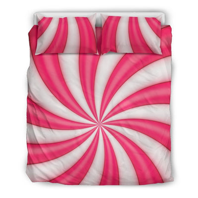Vortex Twist Swirl Candy Print Duvet Cover Bedding Set