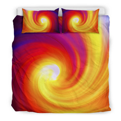 Vortex Twist Swirl Flame Themed Duvet Cover Bedding Set