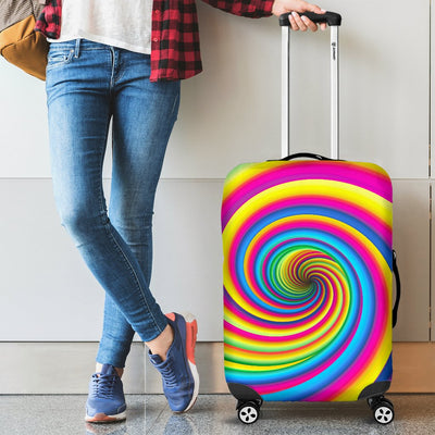 Vortex Twist Swirl Rainbow Design Luggage Cover Protector